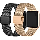 Meliya kompatibel mit Apple Watch Armband 38mm 40mm 42mm 44mm, Metall Edelstahl Ersatzarmband für...