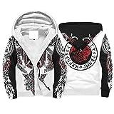 Knowikonwn War Eagle Viking Fleece Sudaderas cómodas divertidas - cuello redondo deportivo blusa blanca4 2xl