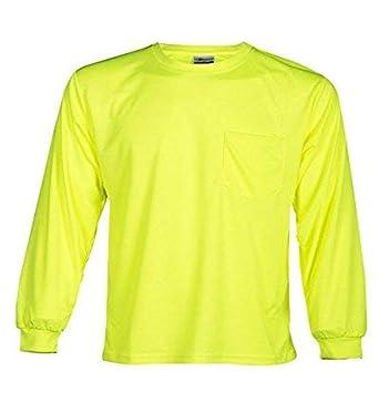 ML Kishigo microfibra de poliéster camiseta de manga larga, color verde lima, M, verde lima, 1