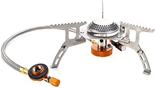 Outry 3500W Camping Gas Stove, Foldable Camping Stove with Piezo Ignition, Portable Stove for Outdoor Backpacking/Hiking