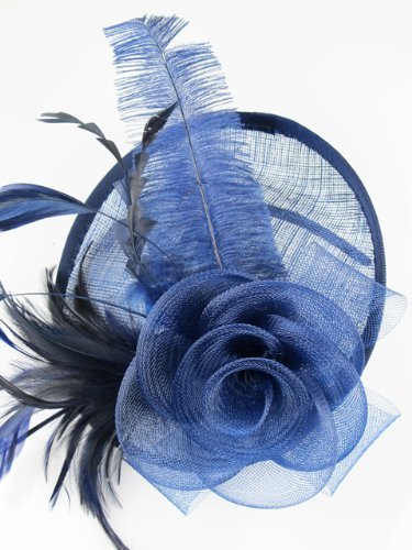 Hat Fascinator with Hairband (Navy Blue) by Pretty Cool