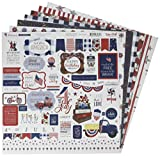 Echo Park Paper Company America The Beautiful Collection Kit paper, red, white, blue, navy