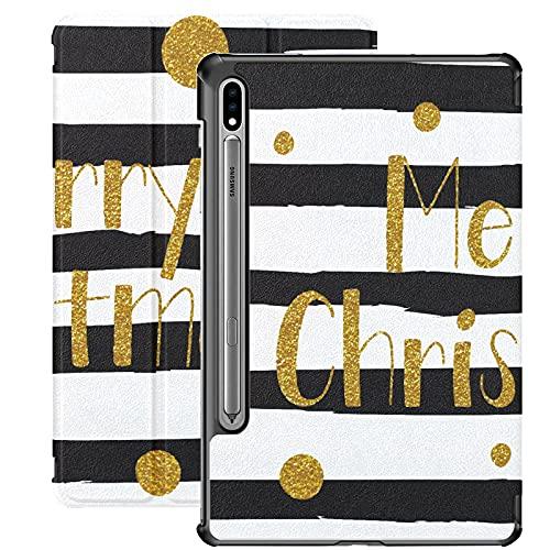 Carta de Navidad Feliz Año Nuevo Funda Galaxy Tab S7 para Samsung Galaxy Tab S7 / s7 Plus Tabletas Samsung Funda con Soporte Funda Trasera Fundas Galaxy Tab A para Galaxy Tab S7 11 Pulgadas S7 Plus