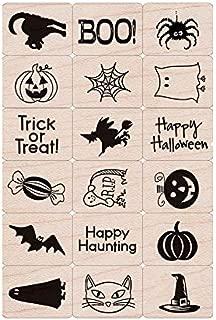 Hero Arts LL440 Ink 'n' Stamp Woodblock Stamps, Halloween