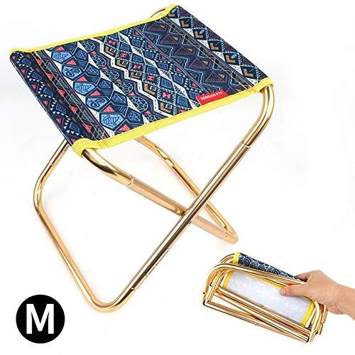 GGLLBL Extérieur Petit Tabouret Pliant en Aluminium Alliage Adulte Mini-Camp de Portable Chaise de pêche Barbecue Pique-Nique siège de la Plage Voyage (Color : A)