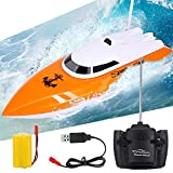 Remote Control Boat , 2.4GHz High Speed Remote Boat for Pool and Lakes with Self-righting Feature - RC Boat for Adults and Kids