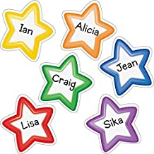 Really Good Stuff 163493 Group Color Student-Name Star Magnets