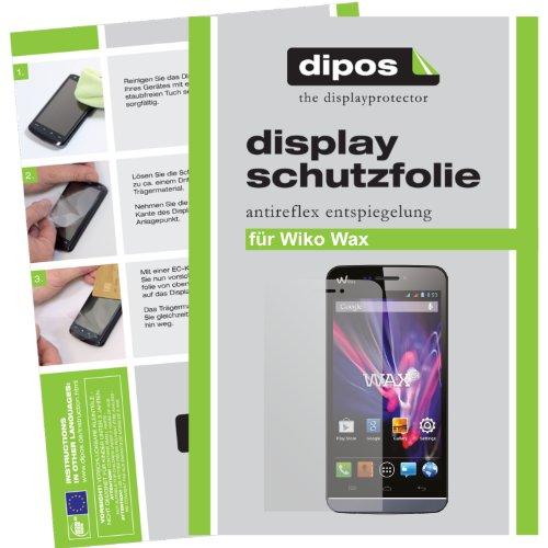 dipos I 2X Schutzfolie matt kompatibel mit Wiko Wax Folie Bildschirmschutzfolie