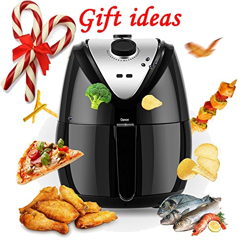 1400W Air fryer, Healthy Smokeless Low-Fat Non-stick Multi-Cooker Oilless Cooker, 3.4QT Capacity W/ Timer and Temperature Control and Detachable Basket Handles
