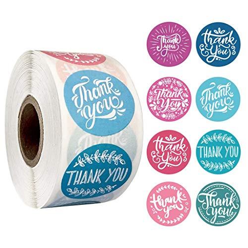 R-WEICHONG Etiketten Für Die Verpackung 500 Stück/Rolle 8 Styles-Thank You-Sticker Handmade Scrapbooking