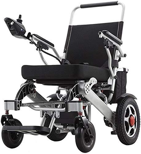 Elektrorollstuhl Klappbaren tragbaren Elektro-Rollstuhl, Leicht Carry Rollstuhl Scooter, 24V 20Ah Li-Ionen-Akku, 250W * 2 Dual Motor Elektro-Rollstuhl Bequemes und sicheres Reisen ( Color : Silver )