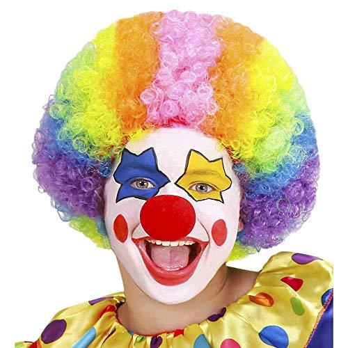 Parrucca clown in sacchetto Taglia unica Bambino