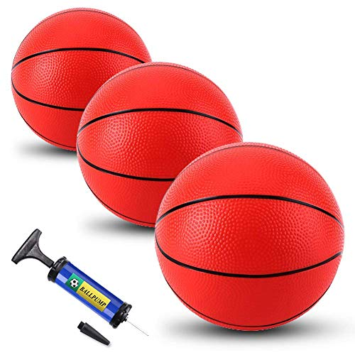 OBOVO 3 Pack Inflatable Pool Basketballs Mini 8.5 Inch Ball Replacement...