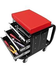 CG Car Professional 580526 Werkplaatsstoel met schuifladen, verrijdbaar