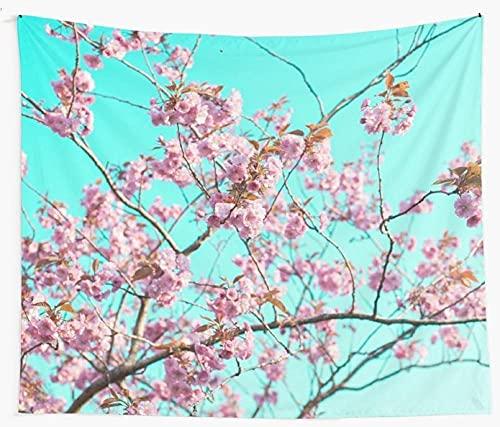 Flores Primavera Tapiz de pared Cubierta Toalla de playa Manta de picnic Estera de yoga Decoración del hogar 150x100cm / 59x39inchch