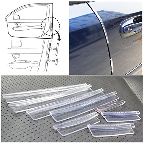 YONGYAO 8Pcs Clear Voiture Protection Anti-Rayures Protège-Porte Edge Moulures