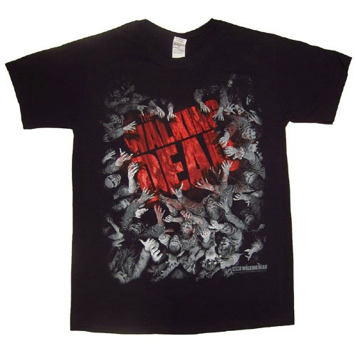The Walking Dead Horde & Logo T-Shirt, Noir, M Homme
