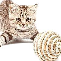 猫 おもちゃ ボール 噛むおもちゃ 麻縄 ボール 運動不足やストレス解消 5個