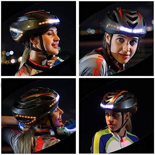 Inteligente Ciclismo Casco Con control remoto,Casco de bicicleta LED Luz EPS Ultraligero...
