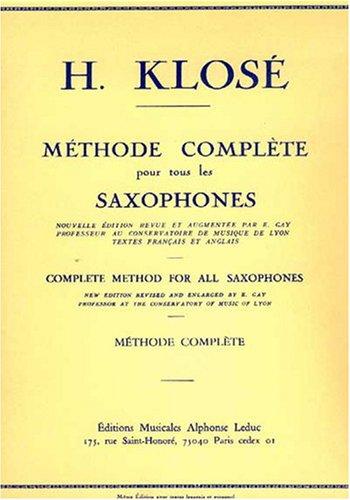 METHODE DE SAXOPHONE COMPLETE (FRANCAIS-ANGLAIS)