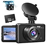 [2020 New Version] Dash Cam Front and Rear Pathinglek Dual Dash Cam 3