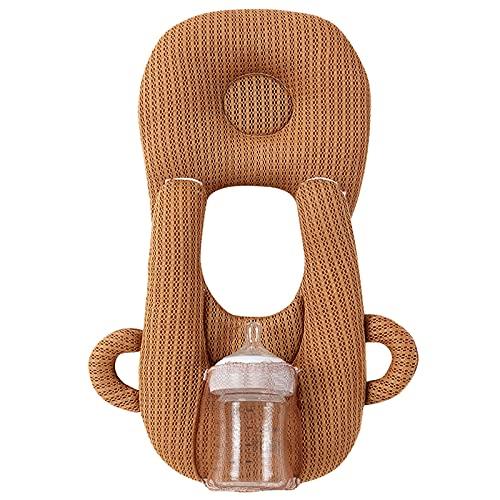 Almohada de Lactancia para bebé con Orejas Dobles, Accesorio de biberón sólido en Forma de U para aliviar la Fatiga (Style 2-Coffee, One Size)