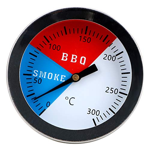 CuiGuoPing Plug-in Runden Grill Thermometer, 0-300 Grad Celsius, Edelstahl