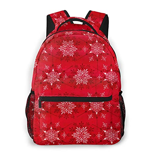 Lawenp Mochila Unisex de Moda Mochila de Textura Floral roja Mochila Ligera para portátil para Viajes Escolares Acampar al Aire Libre