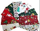 Hava Kolari 10 Stück Patchwork Stoffe Weihnachten Stil, 25