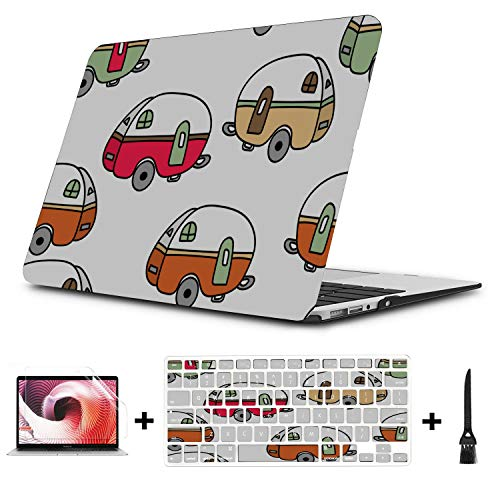 Case MacBook Air Cartoon Transport Vehicle Plastic Hard Shell Compatible Mac Air 11 Pro 13 15 Laptop Hard Shell Case Protection for MacBook 2016-2019 Version