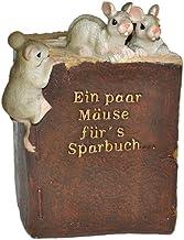 alles-meine.de GmbH Spardose -  EIN Paar Mäuse für´s Sparbuch  - stabile Sparbüchse aus Kunstharz - Maus Geld Sparschwein ...
