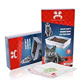 Luve ur Pet Cat Litter Tray Liners Large, Litter Bags with Drawstrings, Extra Strong, Scratch Resistant, Leak Proof, Odourless, 10 Pieces