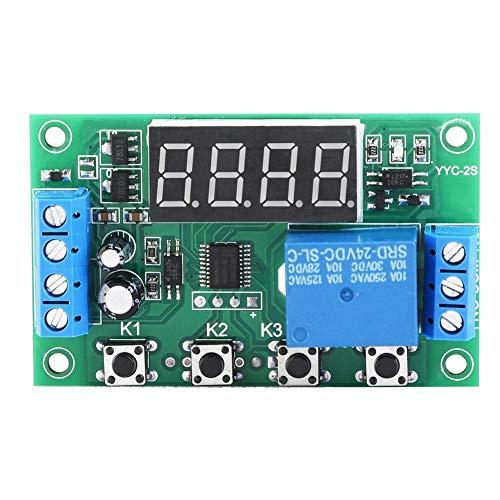 Módulo del interruptor de control de automatización del relé del temporizador ajustable de la pantalla LED del módulo de retardo de tiempo(24V)