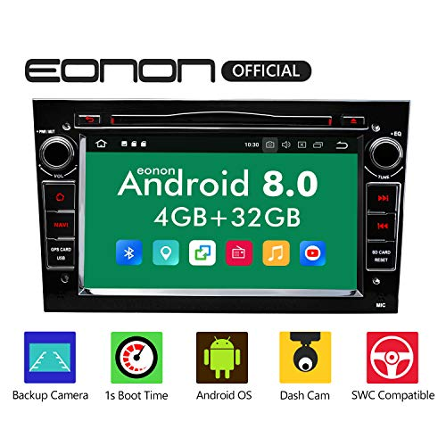 eonon GA9156B Android 8 fit Opel Antara Astra Meriva Vectra Indash 17,8cm 7' Touchscreen Indash Digital Video Audio Stereo Autoradio GPS DVD USB FM RDS Bluetooth support WiFi DAB+ Headunit Black