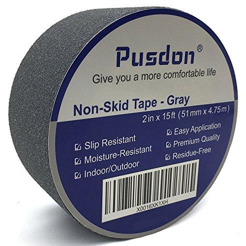Nastro adesivo antiscivolo, Di qualità premium, Nero, Nastro largo, Multi-uso, Non lascia residui, Facile da applicare