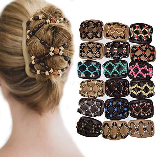 Vintage Perles Élastique Femmes Cadeau Dame Coiffure Double Face Magique Peigne Chapeaux Décor New ReleasedJoli design