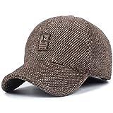 XQJDD MNBVCX Versión Coreana del Sombrero De Las Señoras Gorro De Lana Tres Bolas De Pelo Espalda Abierta Sombrero De Punto Doble Grueso Sombrero De Piel De Conejo
