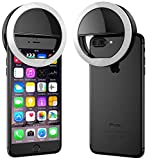 PERFECT BRIGHTNESS FOR SELFIE: Suit for all cellphone, 3 modes of brightness, You'll find the perfect lighting needed for your photos & Videos. SELFIE RING LIGHT: 3 different levels of brightness, Provide supplemental or side lighting for creative ph...