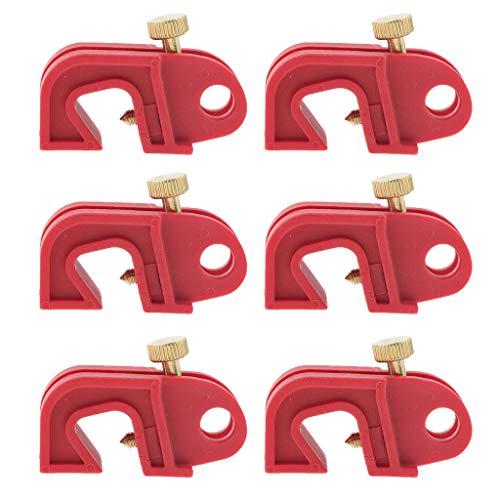 #N/a Paquete de 6 Dispositivos de Bloqueo de Disyuntor Universal Rojo con Tornillo Retorcido