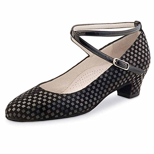 Werner Kern Alice 3,4 - Zapatillas de baile para mujer, color negro, Mujer, Alice, Negro , 39 2/3 EU