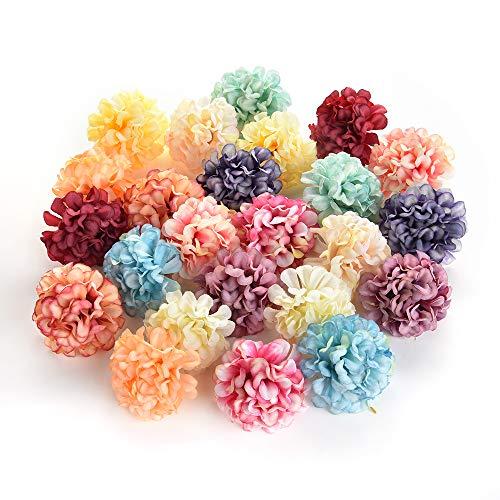 Seidenblumen in groß großhandel gefälschte blumen köpfe diy künstliche seidenblumen kopf für zu hause hochzeit dekoration kranz geschenkbox scrapbooking gefälschte blumen 30 stücke 4 cm (Multicolor)