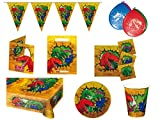 Folat 00251 - Partyset Dinosaurier, 48 teilig
