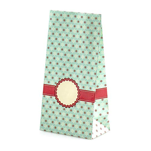 Adventskalender om te vullen Snow Christal 24 gecoate papieren zakjes cadeauzakjes Kerstmis, Kerstkalender knutselset incl. Adventsgetallen stickers van pajoma