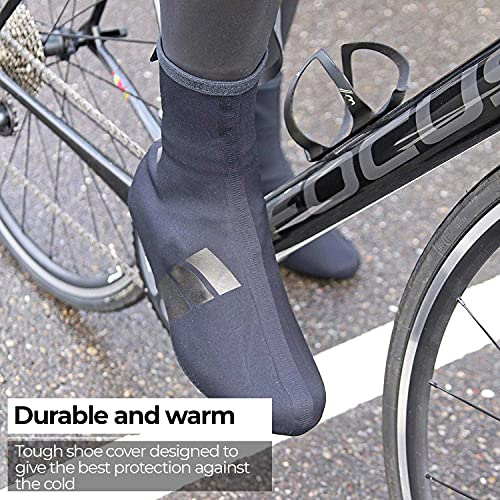 BBB Heavyduty - Botín térmico de ciclismo para hombre, color negro, talla 41-42