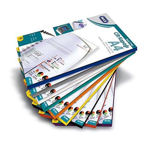 Deckblatt, Deckfolien 100 Stück, A4, Weiss Deckblätter