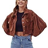 Yihome Women's Coat, Large Size Long Sleeve Solid Color Button Jacket Coat Outwear
