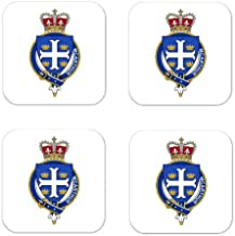 Mcarthur Scotland Family Crest Square Coasters Coat of Arms Coasters - Set of 4