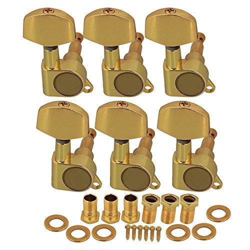 Golden Open Gear String Stimmwirbel Tuner 3R3L für Akustische Gitarre Key
