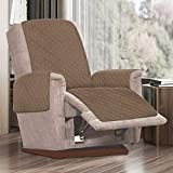 Fundas de silla reclinables impermeables, para sillones reclinables, acolchadas con correa antideslizante, sofá de 1 plaza antideslizante para animales de compañía (camel)