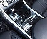 AUTO-spro Para Range Rover Sport 2014-2017 (LHD) Fibra de Carbono Estilo ABS Plástico Consola Centro Panel Cubierta Marco Marco de Cubierta (Para Range Rover Sport 2018-2020 (excepto SVR))